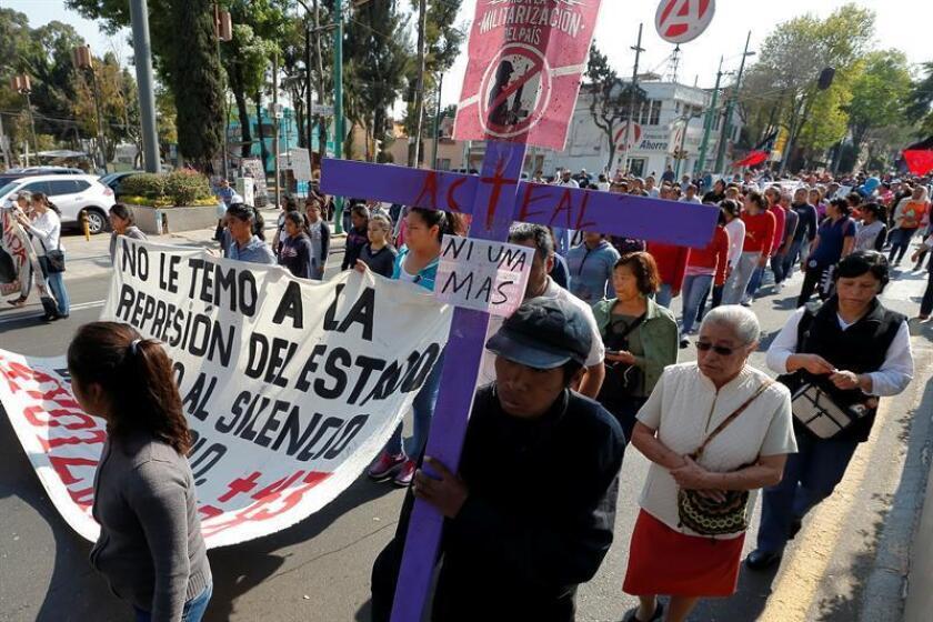 La prensa lo ha identificado como Felipe Pérez Landa, alías el Sureño, señalado como un de los líderes de Los Rojos, grupo criminal a quien se atribuye la desaparición de los 43 de Ayotzinapa ocurrida el 26 de septiembre del 2014. EFE/Archivo