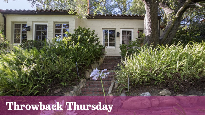 A Beverly Crest area home listed at $7.395 million was once sold by Katharine Hepburn to actor Boris Karloff.