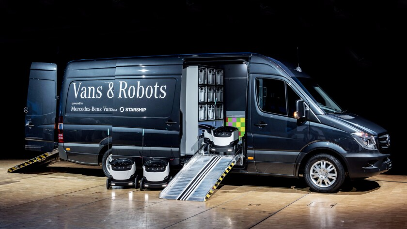 Mercedes 'mothership' will transport robot workers to deliver packages