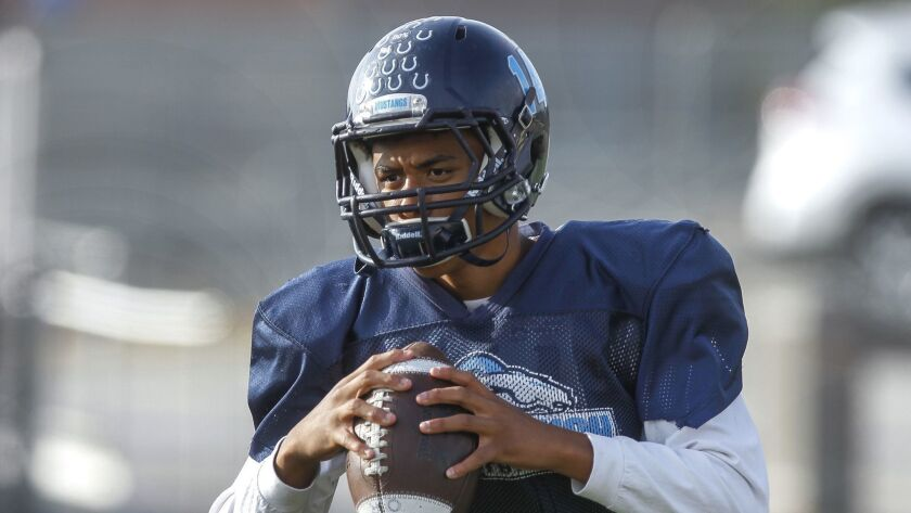Otay Ranch quarterback Puka Stewart returns after leading the Mustangs to the playoffs last season.