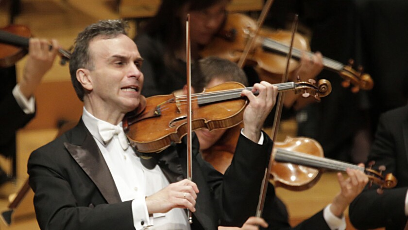 Gil Shaham is photographed during a 2013 concert with the LA Phil at Walt Disney Concert Hall.