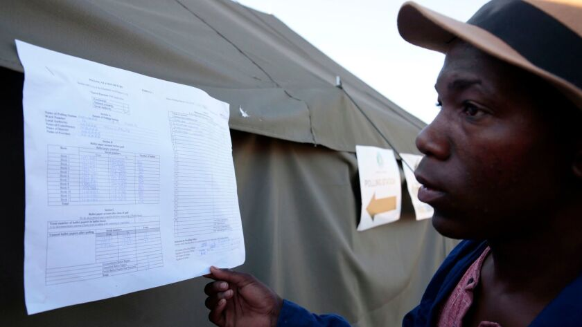 Zimbabwe election preliminary results announcement, Harare - 31 Jul 2018