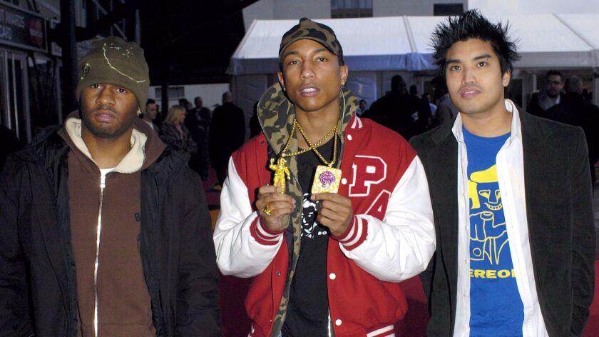 N.E.R.D at the 2004 BRIT Awards.
