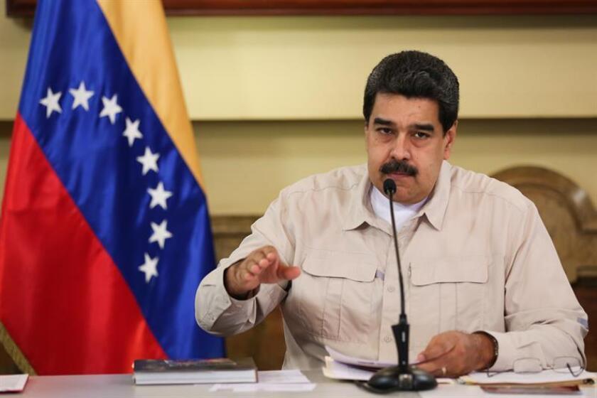 Fotografía cedida por la oficina de prensa de Miraflores, donde se observa al presidente venezolano, Nicolás Maduro. EFE/PRENSA MIRAFLORES/SOLO USO EDITORIAL/NO VENTAS