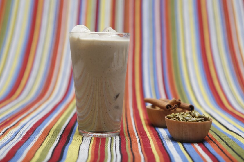 Pumpkin seed horchata is inspired by a less-famous Mexican style of horchata made using indigenous