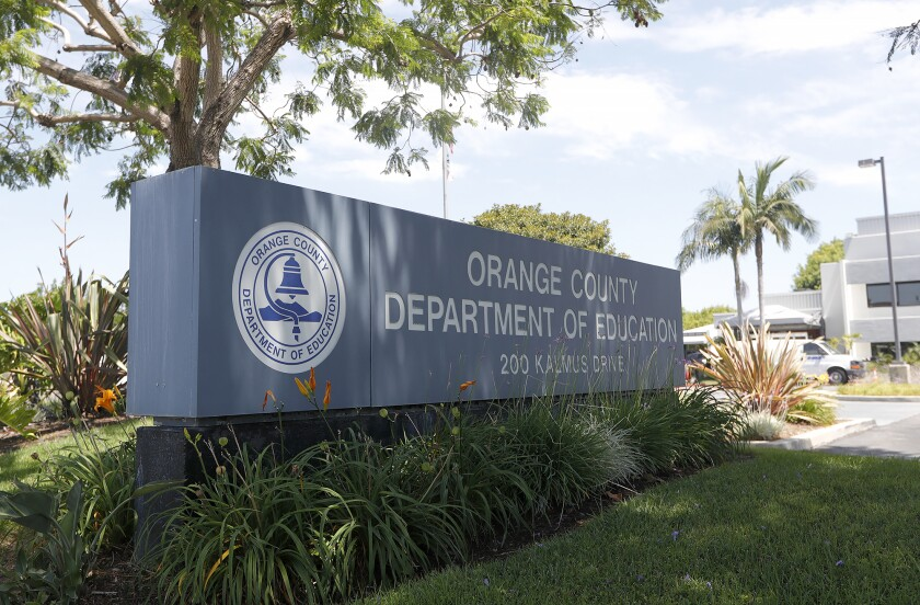 The Orange County Department of Education office in Costa Mesa