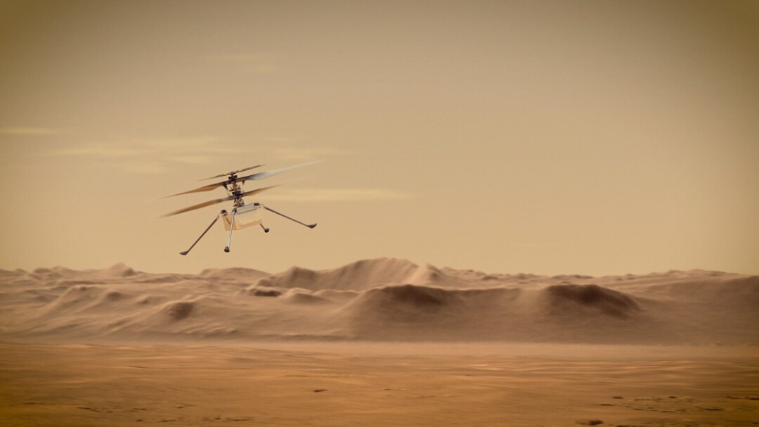 Perseverance will test fly a 4-pound helicopter from Jezero Crater on Mars.