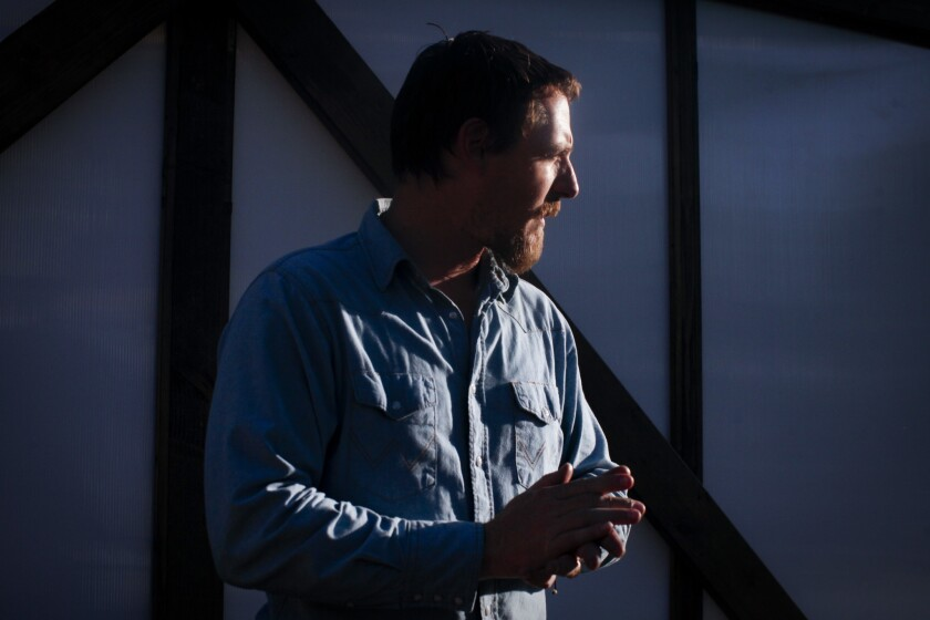 """Sturgill Simpson, shown at the 2015 Stagecoach festival in Indio, received two Grammy Award nominations for his latest album, """"A Sailor's Guide to Earth."""""""
