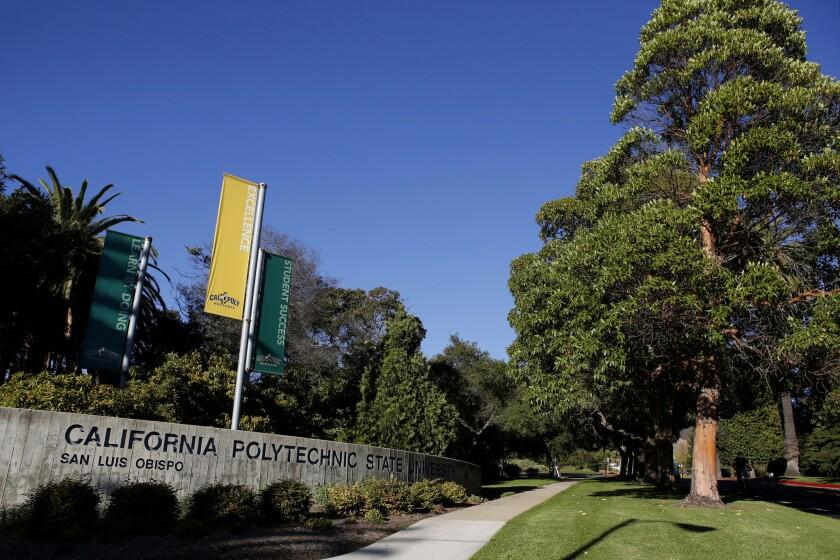 An entrance to the Cal Poly San Luis Obispo campus.