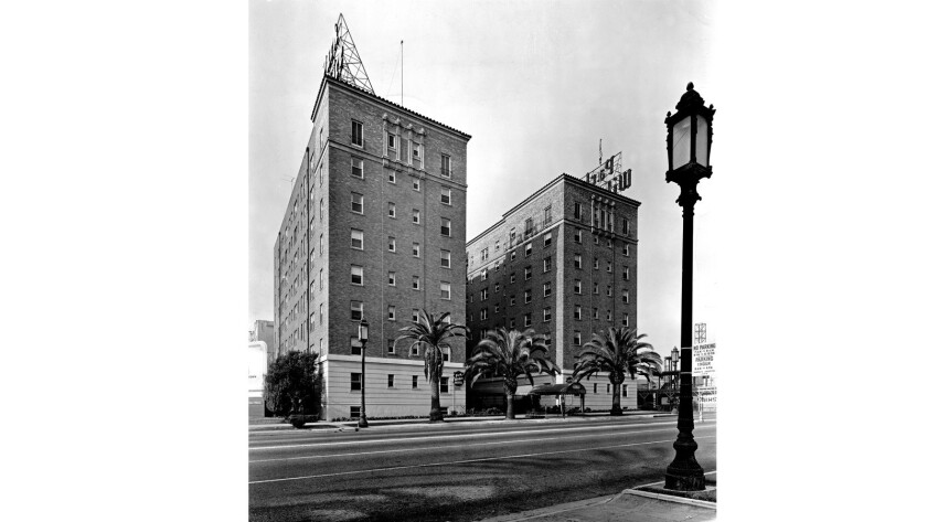 The Park Wilshire Hotel in the 1950s.