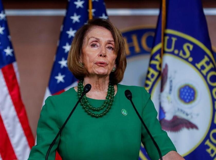 House Democratic leader Nancy Pelosi holds a press conference at the US Capitol on Dec. 6, 2018. EFE-EPA/ Erik S. Lesser
