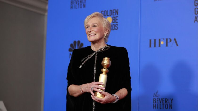 """Glenn Close won the award for actress in a motion picture, drama, for """"The Wife."""""""