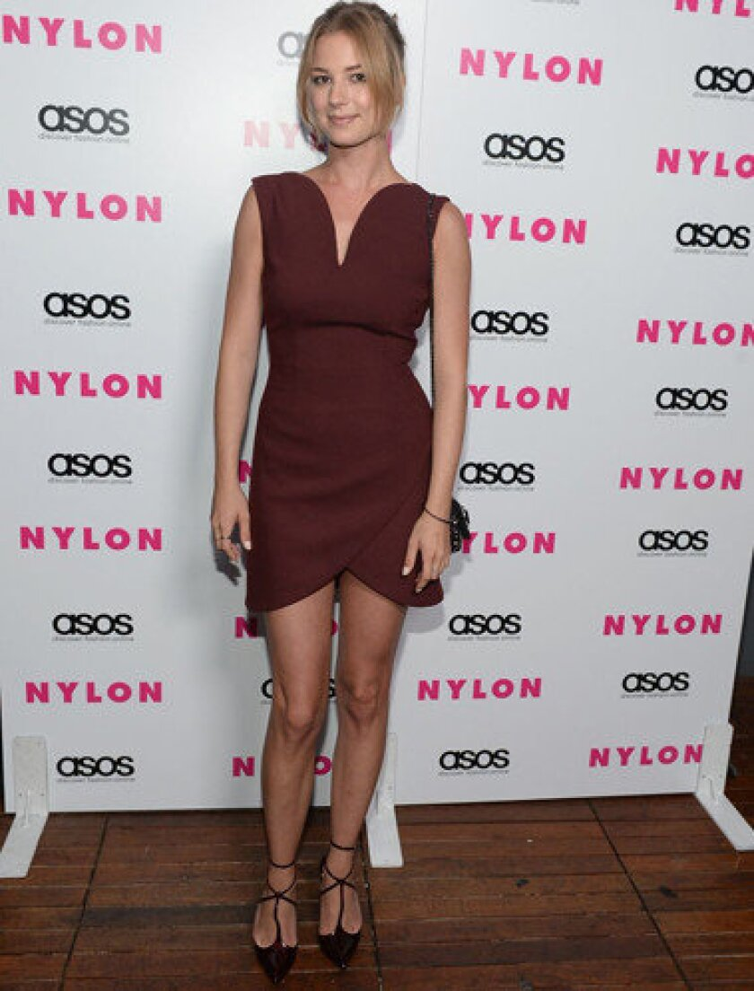 """""""Revenge"""" star Emily VanCamp at a party at the Redbury Hotel."""