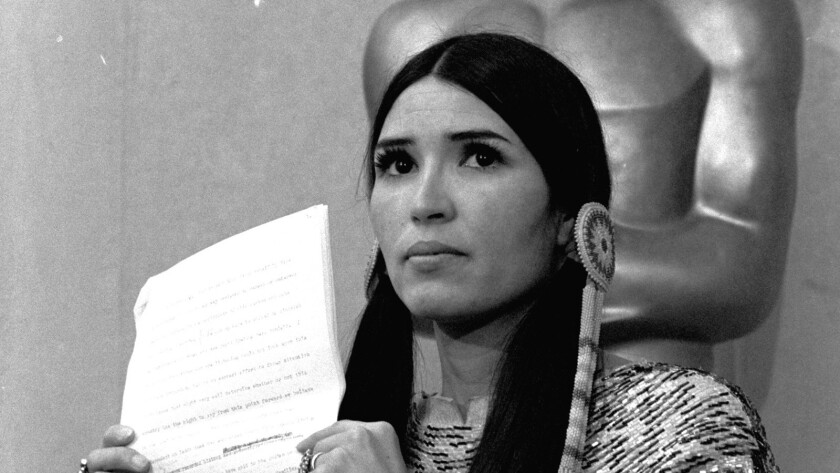 Sacheen Littlefeather at the 1973 Academy Awards.
