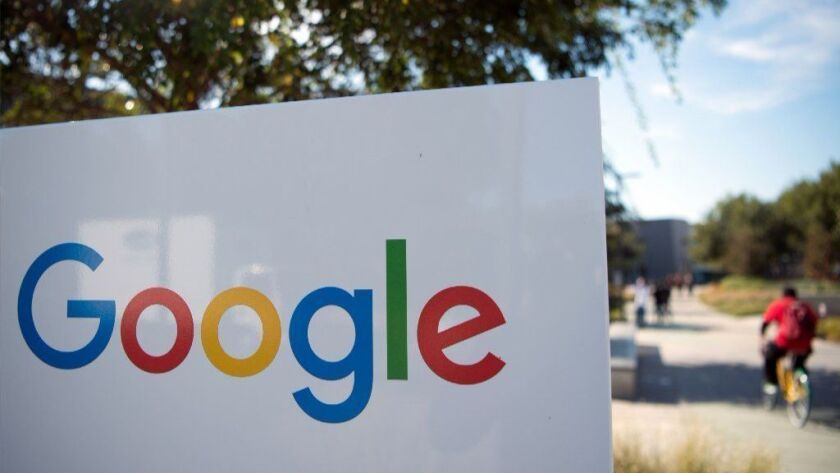 Google's Googleplex is seen in 2016 in Menlo Park, Calif. Google on Oct. 8, 2018 announced it is shutting down the consumer version of its Google+ online social network after fixing a bug exposing private data in as many as 500,000 accounts.