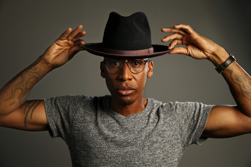 Versatile R&B singer-songwriter and producer Raphael Saadiq is shown in his North Hollywood studio.