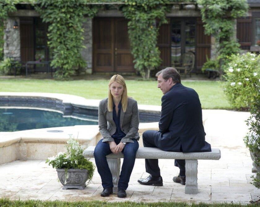 Carrie Mathison and Leland Bennett on 'Homeland'