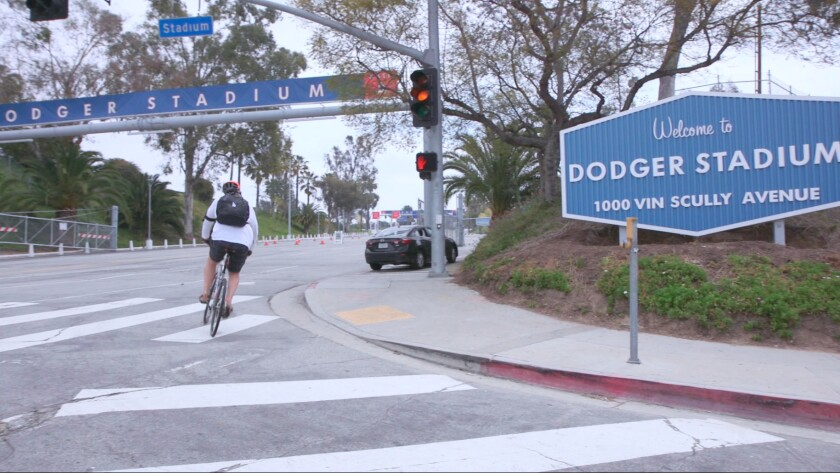 Geren arrives at Dodger Stadium, usually by noon for a night game. The last leg is the roughest.