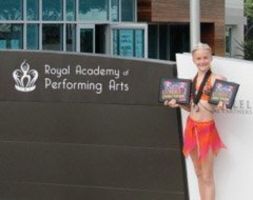 Alexis Marxer, 10, a student at the Royal Academy of Performing Arts, won junior 'Dancer of the Year' at the Rainbow International Dance competition recently.