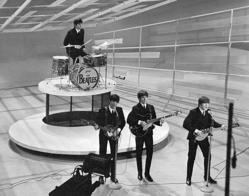"""""""The Night That Changed America"""" with Ringo Starr, left, Paul McCartney, George Harrison and John Lennon."""