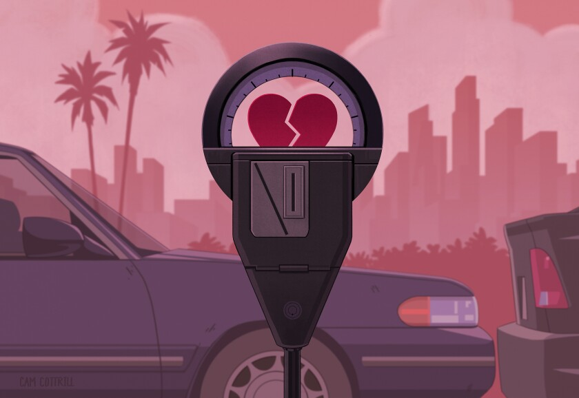 I lived in Costa Mesa. He lived in Pasadena — and he didn't drive.