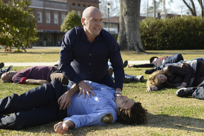 """Dean Norris in """"Under the Dome"""""""