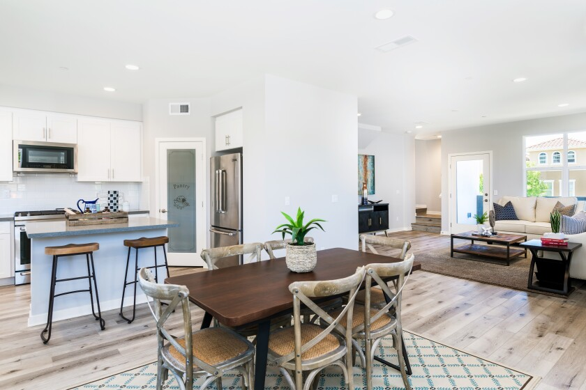 Pricing starts in the high $500,000s for the three-story Prato townhomes, which include premium upgrades for the refrigerator, stainless-steel appliances, quartz countertops and more.