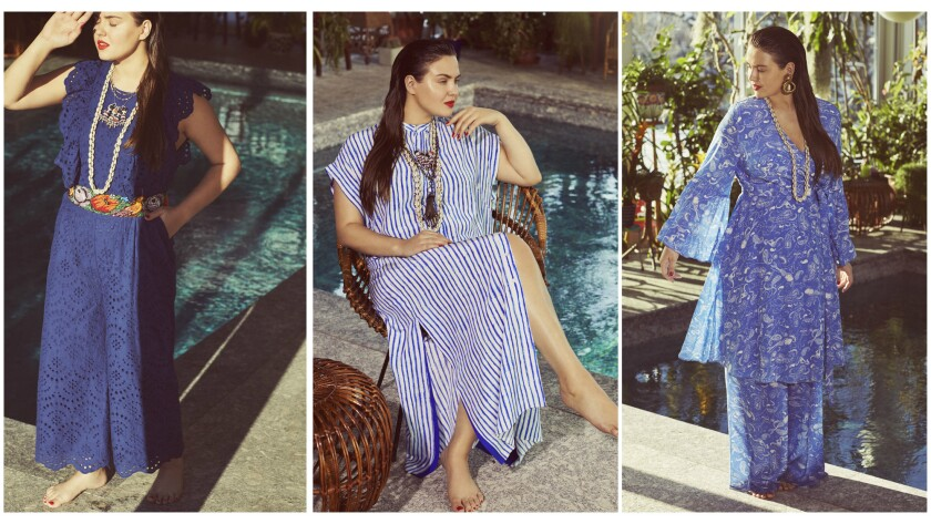 Looks from Eloquii's limited-edition capsule collection collaboration with Teresa Maccapani Missoni.