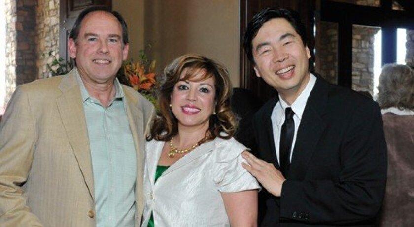 Hosts Eric and Diane Lekven with Orchestra Nova Maestro Jung-Ho Pak (Photo: Rob McKenzie)
