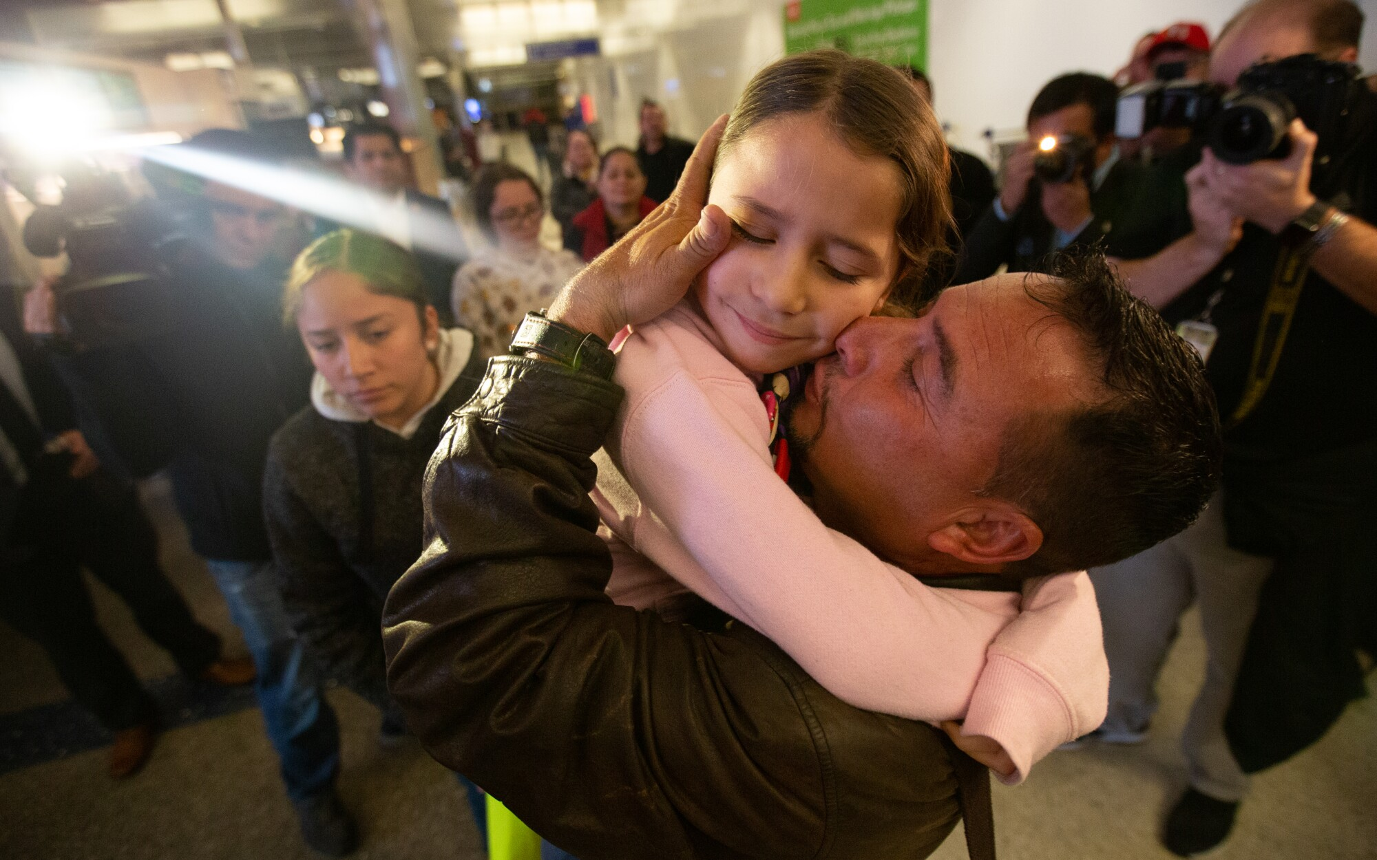 Migrant parents separated from children since 2018 are reunited at LAX -  Los Angeles Times