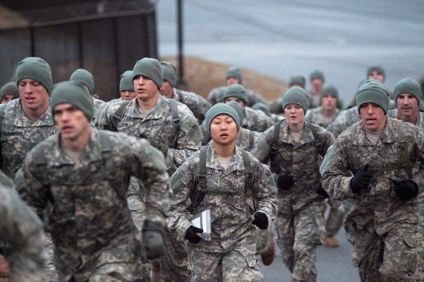 Candidates for Ranger School at Fort Benning, Ga.