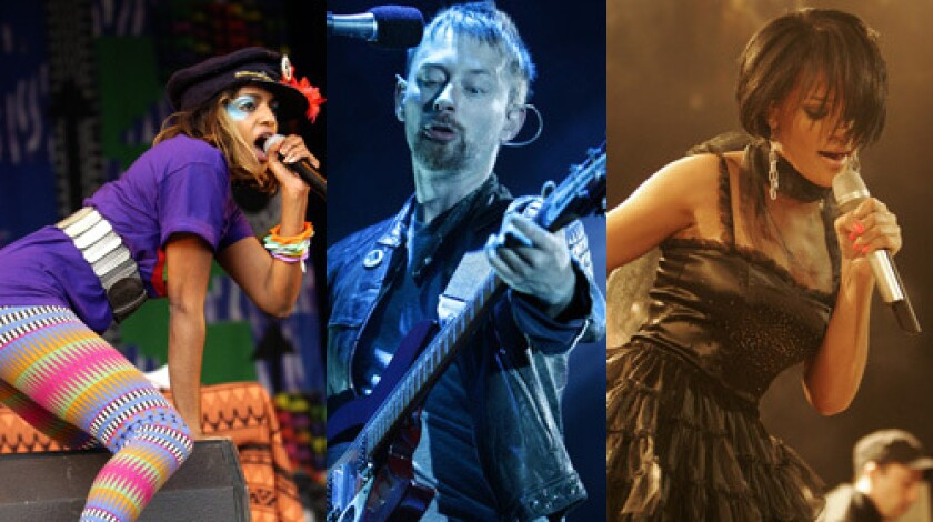 M.I.A., Radiohead and Rihanna are among this year's most important albums.