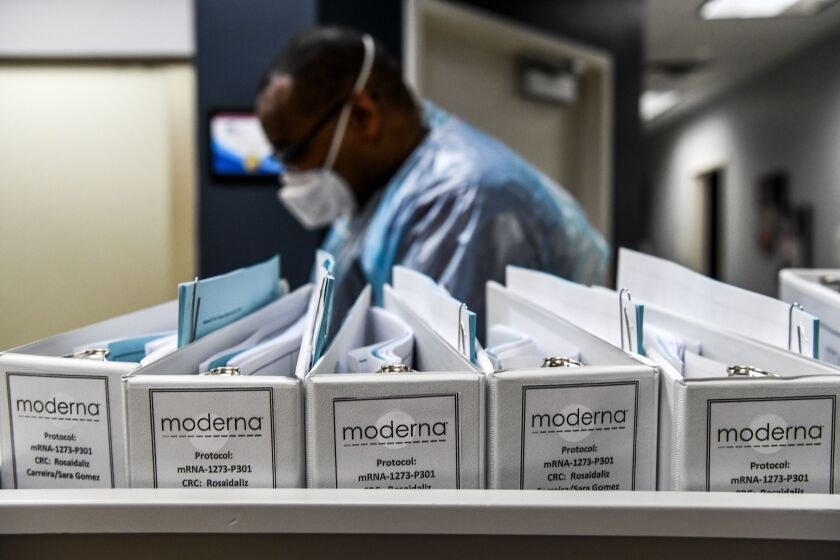 Biotechnology company Moderna protocol files for COVID-19 vaccinations