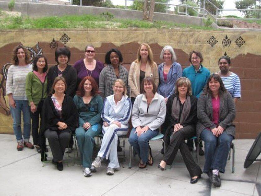 Parent volunteers at a recent CCA Grad Nite Committee meeting.