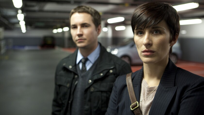 """Martin Compston and Vicky McClure in the imported police drama """"Line of Duty"""" on AMC."""