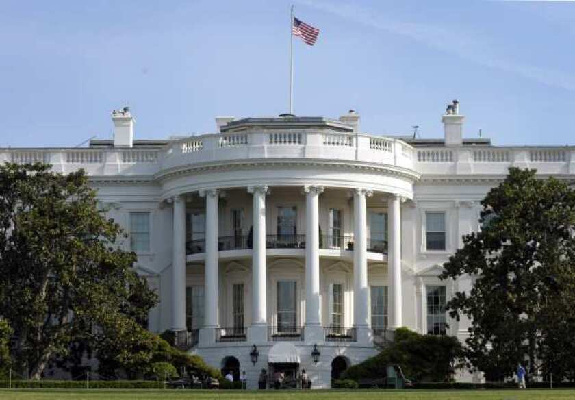 The White House, seen from the South Lawn in Washington. The property would be listed for sale at $110 million, according to estimates.