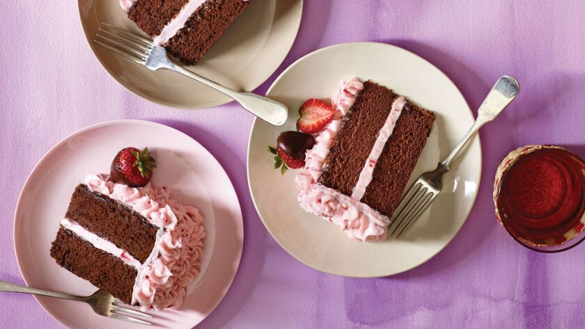 "Chocolate Dipped Strawberry Cake, from ""Cake, I Love You."""