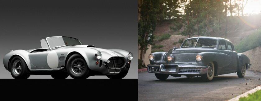 One of these exceptional vehicles sold for $3 million; the other brought close to $2 million. Can you guess which is which?