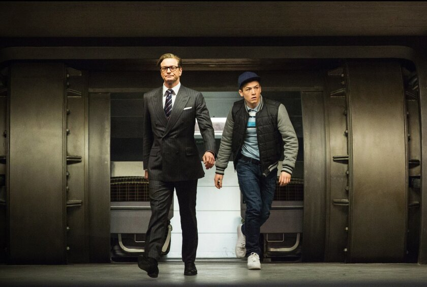 "In ""Kingsman: The Secret Service,"" Harry (Colin Firth), a spy, enlists Eggsy (Taron Egerton). A partnership between 20th Century Fox and Google is meant to engage the public in the movie."