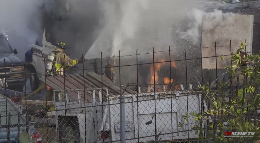 Fire investigators are looking into three fires set during a single 24-hour period at a tow lot in Logan Heights.
