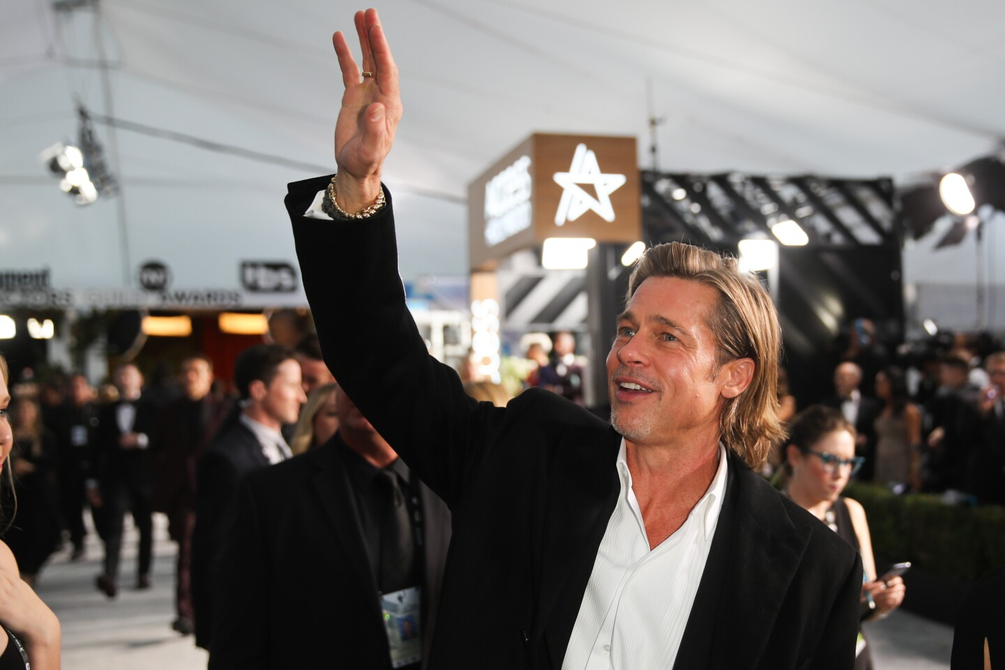 LOS ANGELES, CA - January 19, 2020: Brad Pitt arriving at the 26th Screen Actors Guild Awards at the Los Angeles Shrine Auditorium and Expo Hall on Sunday, January 19, 2020. (Allen J. Schaben / Los Angeles Times)