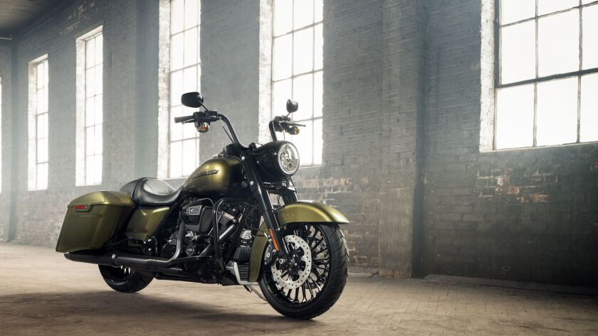Harley-Davidson has recalled 57,138 of its Touring motorcycles, like this Road King Special, for problems that could cause an oil leak.