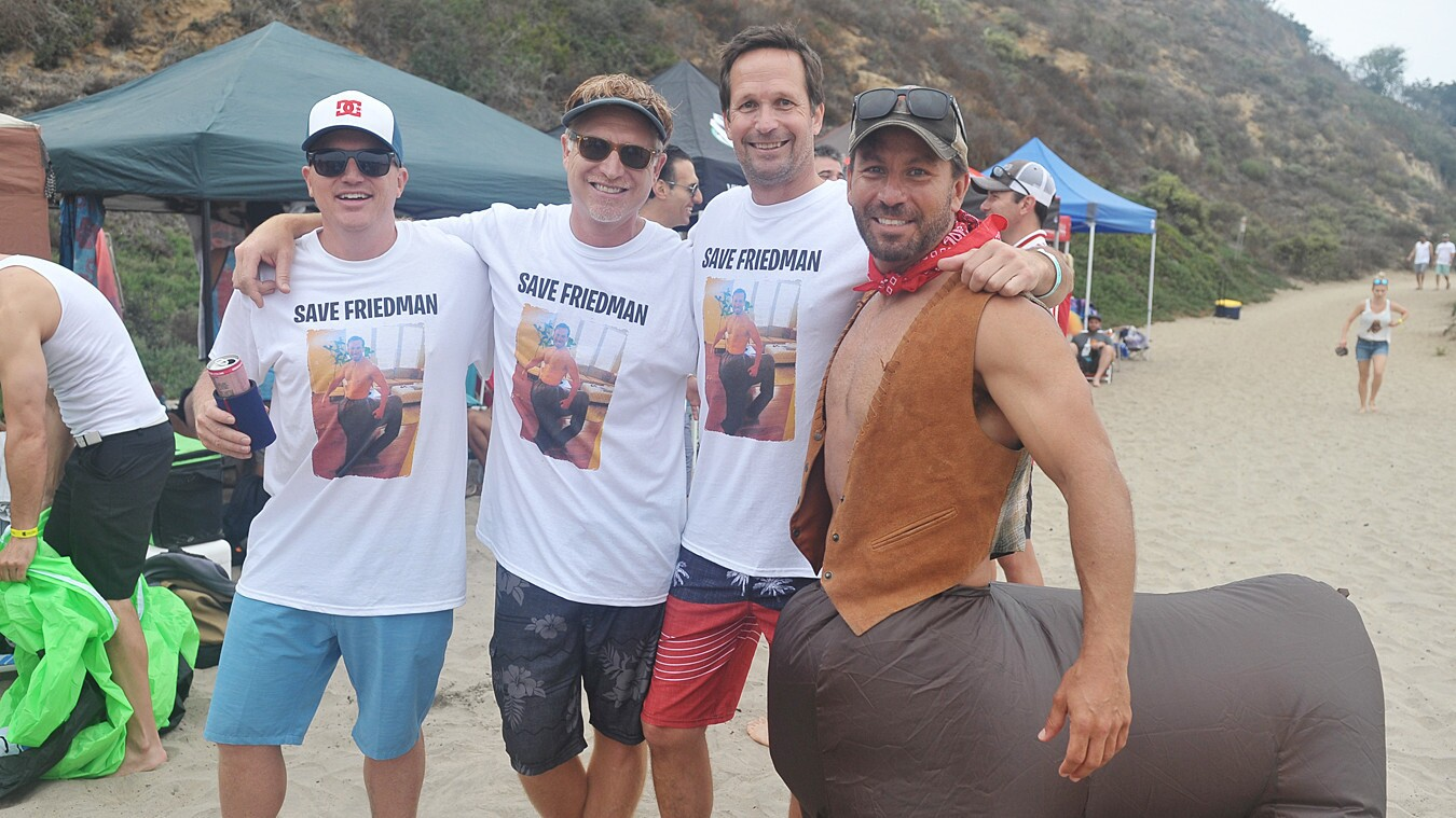 Players in the costume-friendly Vigilucci's Beach Bocce World Championship competed for charity at Dog Beach in Del Mar on Saturday, July 14, 2018.