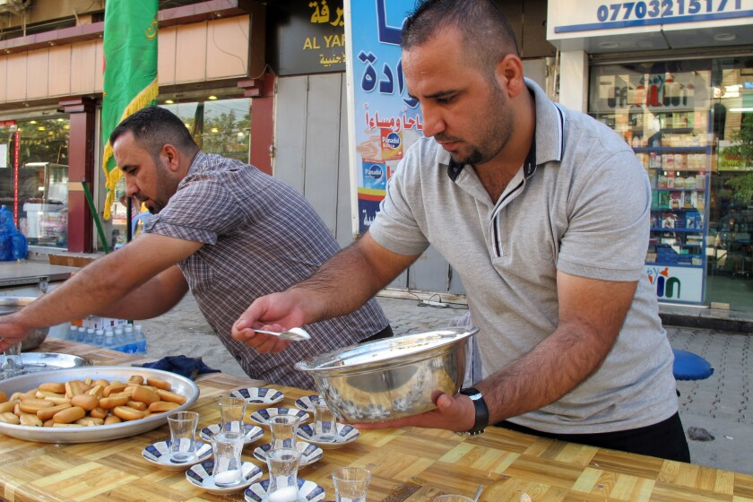 Brothers prepare for Shiite pilgrims in Baghdad