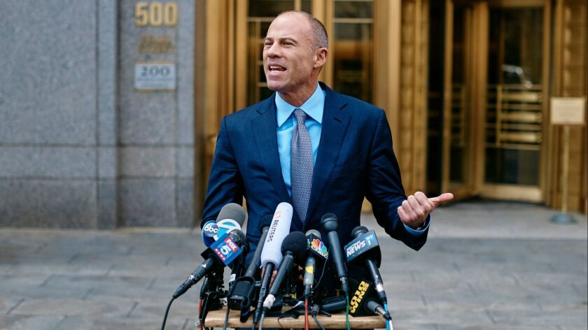 Michael Avenatti, an attorney for porn star Stormy Daniels, opposes a gag order against him that was requested by Michael Cohen, a former personal lawyer to President Trump.