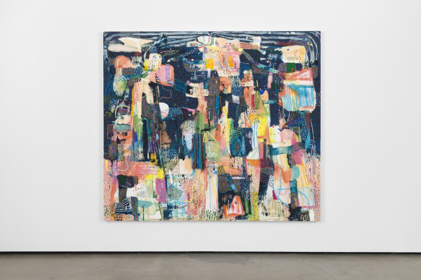 Review: Striped, dotted, zigzagged. The mind-scrambling painting of Tomory Dodge