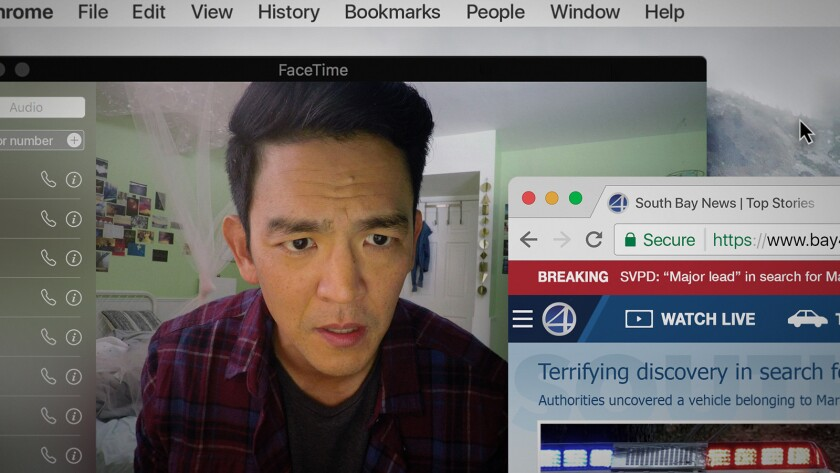 "John Cho plays the desperate father of a missing teenage girl in the 2018 thriller ""Searching"" airing on Starz."