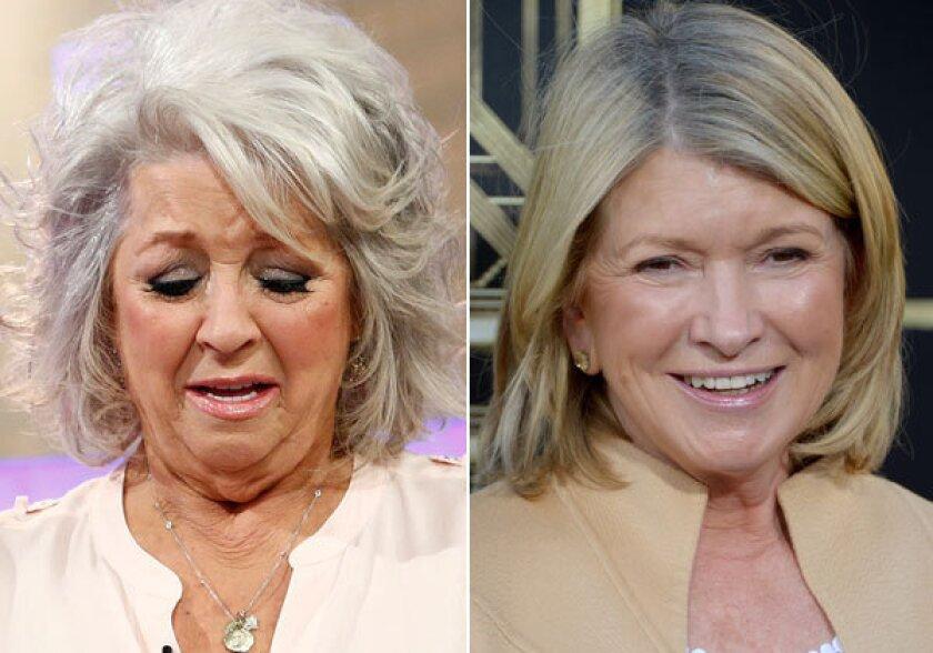 Paula Deen and Martha Stewart.
