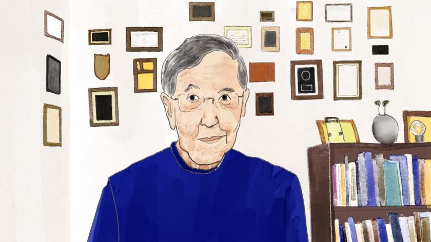 Professor Derald Wing Sue in his office