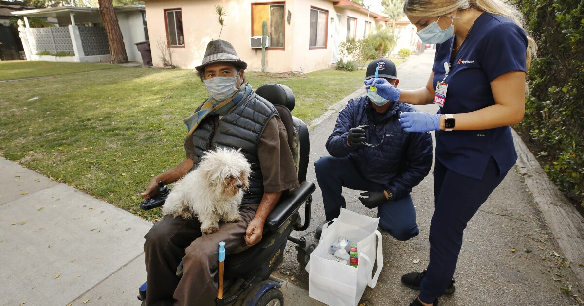 Officials are getting creative to vaccinate homebound seniors - Los Angeles Times